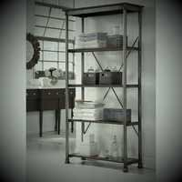Steel Book Shelves