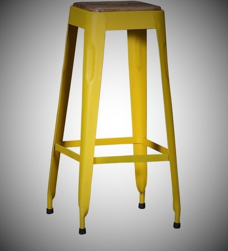 Yellow Iron Bar Stools