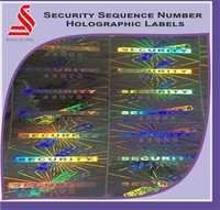 Custom Security Sequence Number Hologram Labels