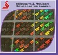 Holographic Sequential Serial Number Secure Hologram Labels Stickers