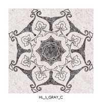 Gray Flower Pattern Floor Tiles