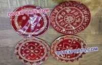 Shagun Thali Red Wedding Plate