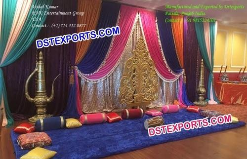 Indian Mehndi Stage Decoration Set