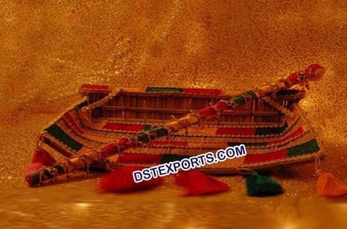 Punjabi Wedding Phulkari Decorated Chajj