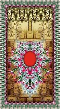 Printed Kaftan with Digital Work