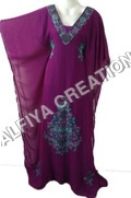 V neck evening fancy farasha jalabiya kaftan