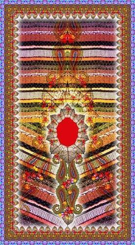 Indian Digital Printed Kaftan work