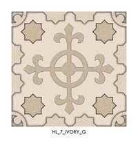 Ivory Satin Finish Floor Tiles