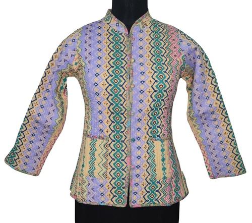 Printed Kantha Jacket