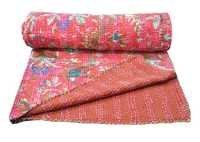 Flower Print Kantha Quilts