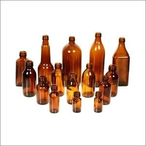 Medicines Amber Round Bottles