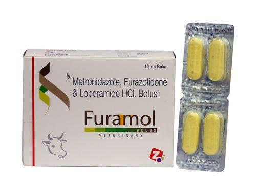 Metronidazole, Furazolidone & Loperamide HCL Bolus