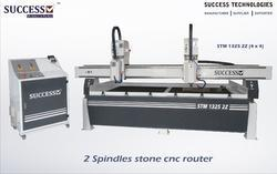 CNC Stone Engraving Machine with 2 Spindle