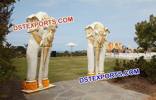 Fiber Elephants Statues for Wedding
