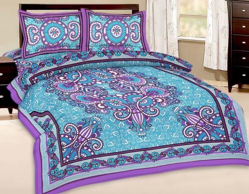 Ethnic Printed Bedsheet