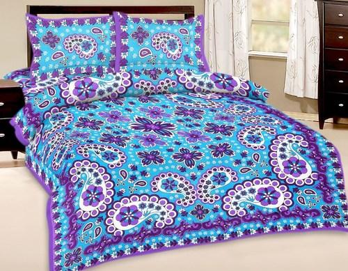 Indian Printed Cotton Bedsheet
