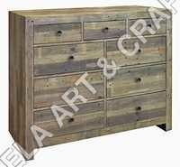 Reclaimed Wood With 9 Drawer