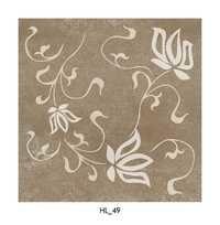 Flower Pattern Brown Ceramic Floor Tiles