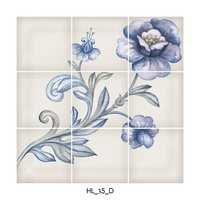 Flower Type Ceramic Decor Floor Tiles