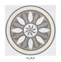 Latest Flower Pattern Round Ceramic Floor Tiles