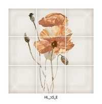 Vintage Look Flower Ceramic Floor Tiles