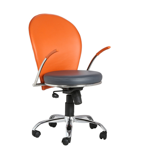 THE NARANJA LB TASK CHAIR ORANGE+GREY