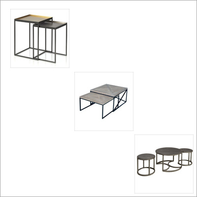 2,3 Piece Nesting Tables w metal Tops