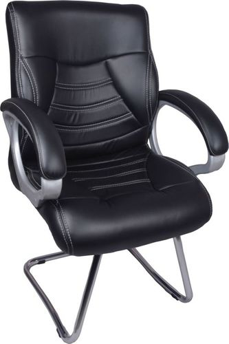 THE CENTURY BLACK VISITOR CHAIR WITH FIX FRAME