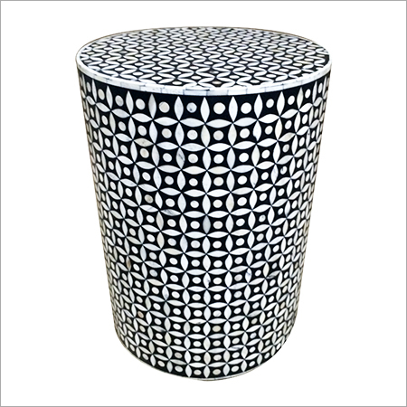 Round Bone Inlay Stool