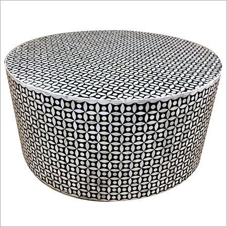 Bone Inlay Round Table