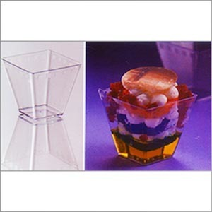 Plastic Square Glass (125 ml) PS 1