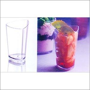 Plastic Triangular Cone Shaped Glass (70 ml) PS 6