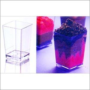 Plastic Square Mini Glass (120 ml) PS 8