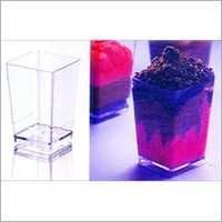 Plastic Square Mini Glass (120 ml) PS 8