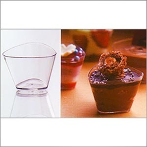 Plastic Triangular Cup (60 ml) PS 3