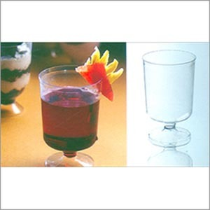Plastic Wine Glass (100 ml) PS 14