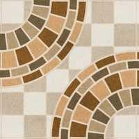 Brown Circle Design Digital Floor Tiles