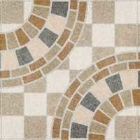 Circle Design Digital Floor Tiles