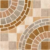Fancy Circle Design Digital Floor Tiles