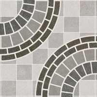 Gray Circle Design Digital Floor Tiles