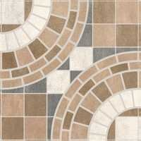 Stylish Circle Digital Floor Tiles
