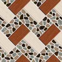 Wooden Pattern Digital Pebble Floor Tiles