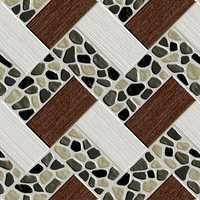 Natural Brown Pebble Stone Floor Tiles
