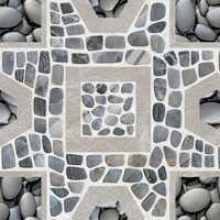 Pebble Rock Shower Floor traditional