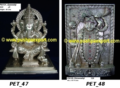 Silver God Statues