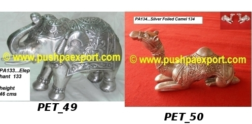 Silver Carved Animal Figures