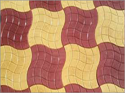 Yellow Red Chequered Tiles