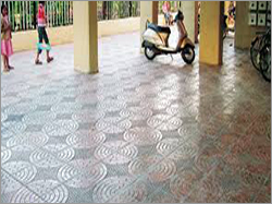 Flower Chequered Tiles
