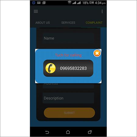 Calling Menu Android App Designing