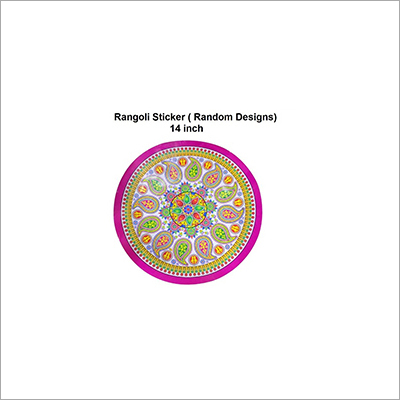 Diwali Lakshmi Pujan Shubh Labh Poster+ Paper Rangoli Sticker + Lakshmi Charan
